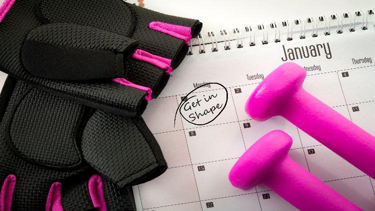 Fitness Classes Monthly Calendar